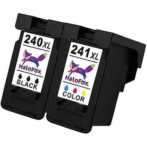 HaloFox Remanufactured Ink Cartridge Replacement PG-240XL CL-241XL Compatible For PIXMA MX432 MX452 MX472 MX512 MX532 MG2120 MG2220 MG3220 MG3222 MG3520 MG3522 MG3620 MG4120, 1 Black+1 (Pixma Mx 472)