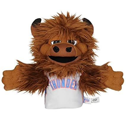 NBA Oklahoma City Thunder Rumble The Bison Mascot Hand Puppet