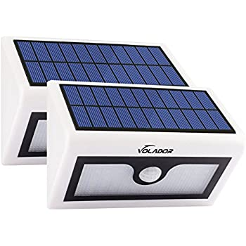 VOLADOR 2 Packs 50 LED Solar Lights, Outdoor Wireless Security Lights,  Motion Activated Solar Light, Wall Mount Solar Light For Garden Patio Deck  Yard Path ...