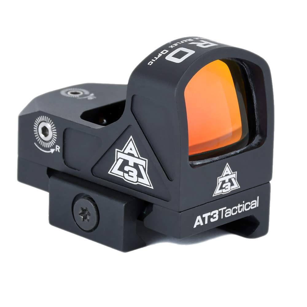 AT3 Tactical ARO Micro Red Dot Sight - Direct Mount, Low Mount, Optional Riser Mount - 3 MOA Compact Reflex Sight by AT3 Tactical
