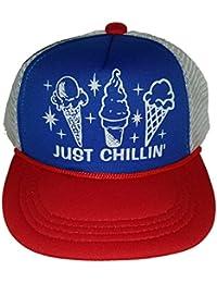 349906f1d00 Toddler Kid s Just Chillin  Ice Cream Snapback Mesh Trucker Hat Cap RWB