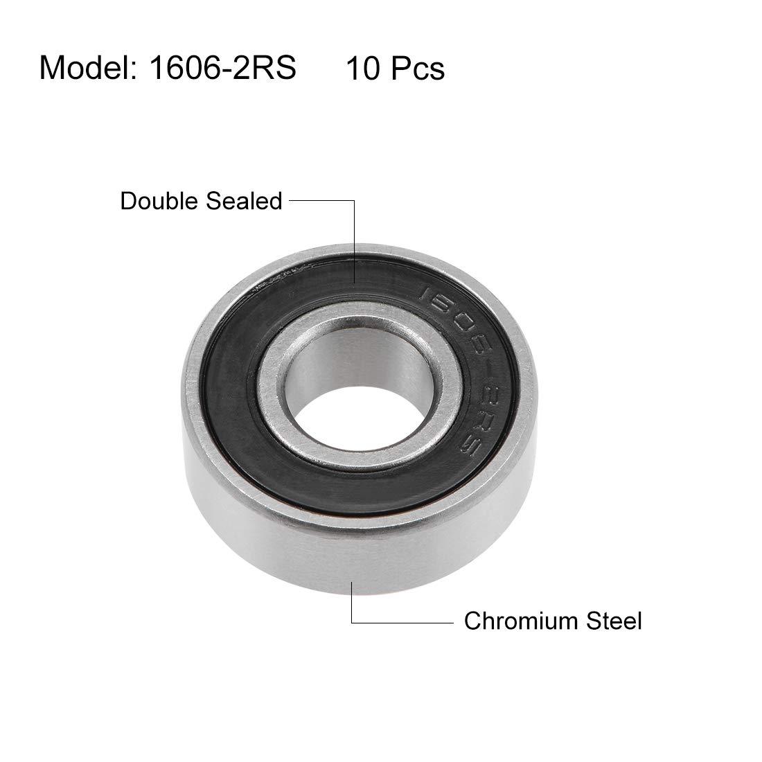 10PCS 8X22X7 MM 608 2RS Bearing ABEC-5 Skateboard 3d printer Ball Bearings  Jw