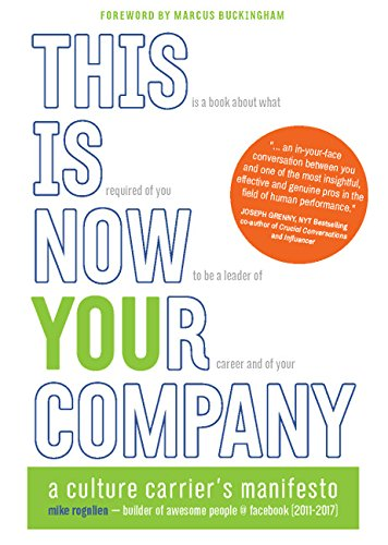 This Is Now Your Company: A Culture Carrier