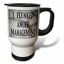 EvaDane - Funny Quotes - I flunked anger management - 14oz Stainless Steel Travel Mug (tm_171965_1)