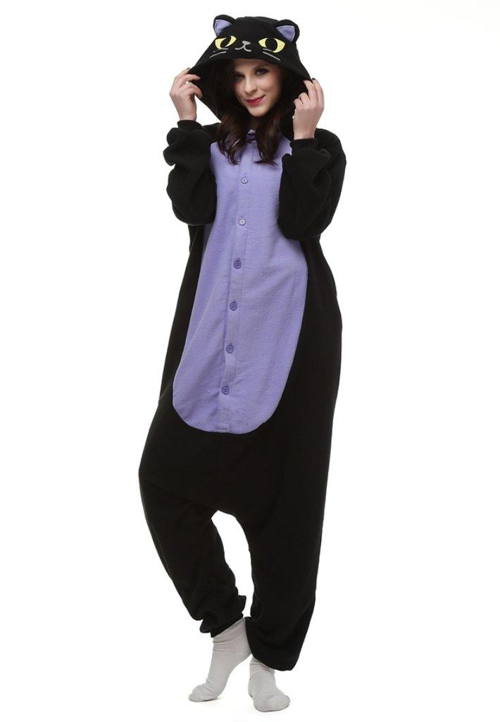 Love Millie Kigurumi Animal Cute Adult Onesie Pajamas Costume Cosplay Midnight Cat M