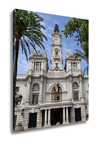 Ashley Canvas City Hall Building In Valencia Spain, Wall Art Home Decor, Ready to Hang, Color, 20x16, AG5528728 by Ashley Canvas