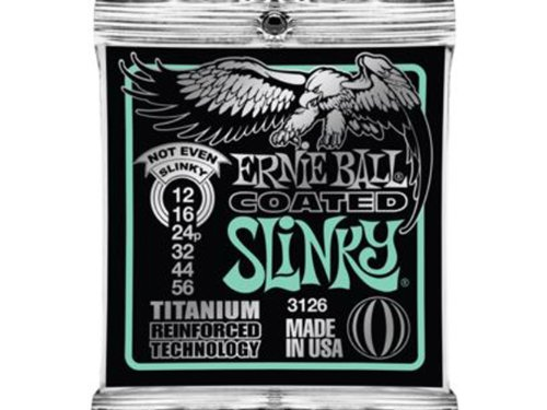 Ernie Ball Coated Electric Titanium RPS Not Even Slinky Set,