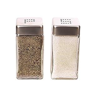 Grant Howard Square Salt and Pepper Shaker Set, Clear