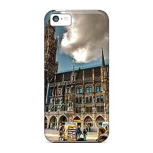 Cathedral In Marienplatz Munich Scratch-free phone covers High Grade Cases Shock Absorbing Iphone5c iphone 5c