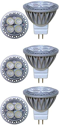 Makergroup Low Voltage Lighting 12VAC DC 3W MR11 Gu4.0 Bi-pin LED Bulb Lamp Spotlight,Warm White Color 2700-3000K 15W-35W Halogen Replacement for Indoor and Outdoor Landscape Lighting 6-Pack