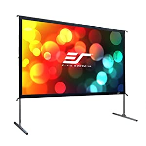 Elite Screens Yard Master 2, 100-inch 16:9, Foldable Outdoor Front Projection Movie Projector Screen, OMS100H2