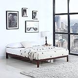 Divano Roma Furniture Modern 8'' Low Metal Platform Bed Frame/Mattress Foundation (Full, Brown)