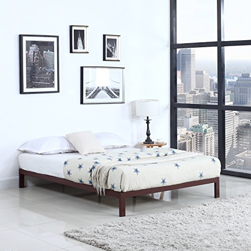 "Modern 8"" Low Metal Platform Bed Frame / Mattress Foundation"