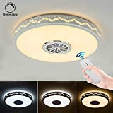 LED Ceiling Lamp Round Flush Mount Ceiling Lighting 20-inch Dimmable Anti-Mosquito Lamp Suitable for Bathroom, Kitchen, Hallway, Stairwell
