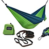 Ultimate Hiking Gear Hammock - Supreme Quality - Ideal for Backpacking, Hiking, Camping, Beach or Backyard! Premium Rip Stop Technology. Extra Strong Adjustable Tree Straps & Carabiners Included!
