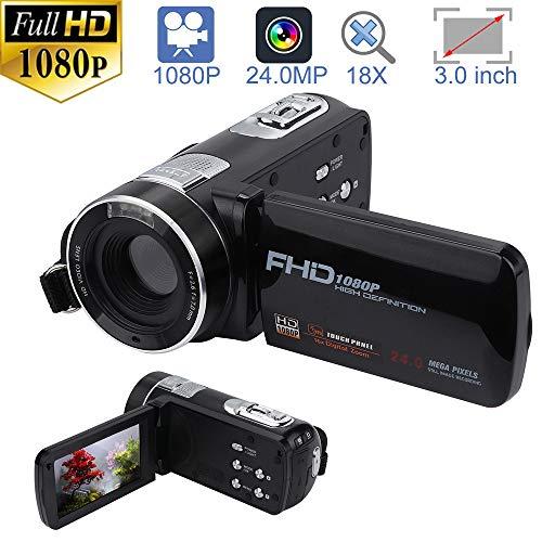 - Clothful Video Camera Camcorder HD 1080P 24.0MP 18X Digital Zoom Camera Night Vision