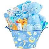 Baby Boutique ''Little Cutie'' Boy's New Baby Gift Basket, Blue