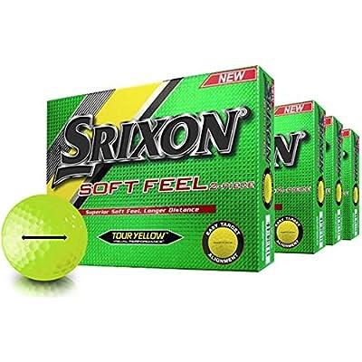 Srixon Soft Feel Yellow Personalized Golf Balls - Buy 3 DZ Get 1 Free - Thick Arrow ID-Align