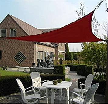 Unicool Deluxe Right Triangle 16 5 x 16 5 x 22 11 Sun Shade Sail UV Block Outdoor Patio Top Canopy Cover W Hardware Kit Terracotta Red