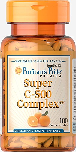 Puritan's Pride Vitamin C-500 Complex-100 Coated Caplets