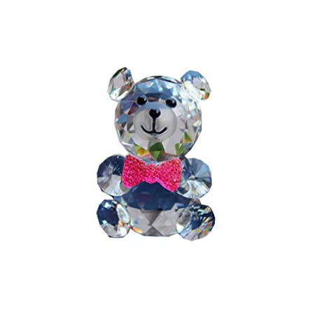 qianyue Animales Figuras en Miniatura de Cristal de Oso de Cristal ...
