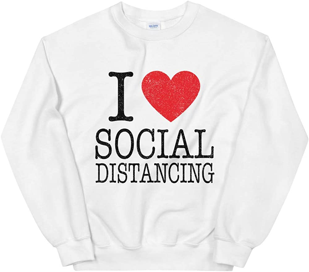 I Love Heart Social Distancing Sweatshirt