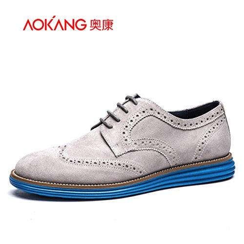 Aemember scolpito Scarpe Uomo scarpe traspiranti scarpe per il tempo libero, scarpe da uomo ,42, grigio