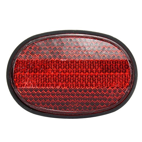 TOOGOO(R) 1 pcs Bicycle Rear Tail Fender Reflector Mudguard Oval Warnning Red black