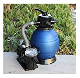 12'' Sand Filter w/Water Pump 2400GPH 4Above Ground Swimming Pool Soft Sid