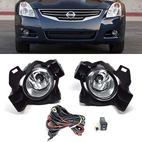 (Remarkable Power Fit For 2010 2011 2012 Nissan Altima 4DR Sedan Bumper Fog Light Kit FL7062)