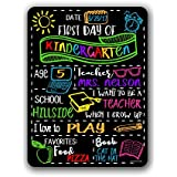 Chalkboard Style First Day of School Photo Prop Tin 9 x 12 inch Sign - Reusable Easy Clean Back to School - Customizable with LIQUID CHALK MARKERS