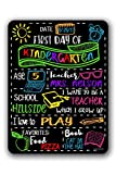 This metal, dry erase board is a great prop for the 1st day of school for your child! Use Liquid Chalkboard Markers to customize...MARKERS NOT INCLUDED. Fill in the grade level, age, school, teacher, favorite book, favorite song, favorite food, and w...