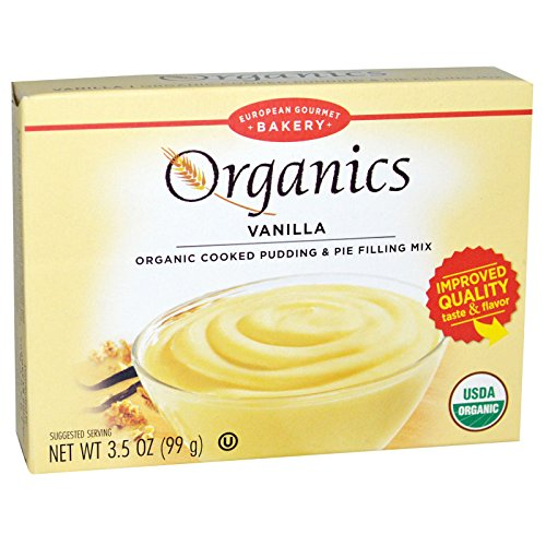 European Gourmet Bakery, Organics, Cooked Pudding and Pie Filling Mix, Vanilla, 3.5 oz (99 g)(PACK 1) (Pudding Mix Vanilla Recipe)