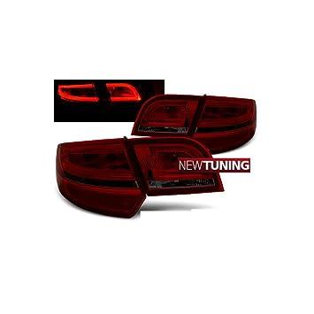 Luz trasera LED para Audi A3 8P 2004-2008 Sportback, color rojo humo: Amazon.es: Coche y moto
