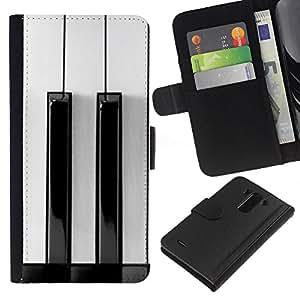 All Phone Most Case / Oferta Especial Cáscara Funda de cuero Monedero Cubierta de proteccion Caso / Wallet Case for LG G3 // White Black Keys Minimalist Music