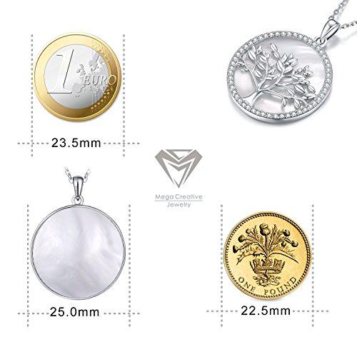 Swarovski Albero Vita Creative Della 925 Mega Da Con Argento Collana Cristalli Donna Jewelry Gioielli Madreperla In x0dY6wwXqa