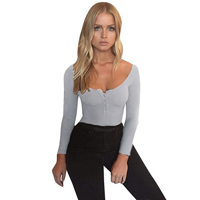 Amazon.com : WoPants, MensJumpsuits KpopBaby Solid Sexy Off Shoulder Tops Long Sleeve Playsuit Trouser (Gray, S) 2019 : Sports & Outdoors