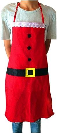 Amosfun Un delantal de Navidad,fiestas creativas,decoraciones,utensilios de cocina,un delantal de cocina casera.