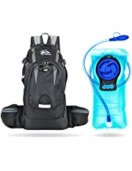 Kadzait Hydration Backpack- Everyday Use Daypack - 15L of Storage Space and 2L BPA Free Water Reservoir With Bite...