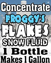 Concentrate Froggys Flakes Snow Juice Machine Fluid - Makes 1 Gallon Snow Formula: PERFECT (30 - 50 Feet Float / Drop)