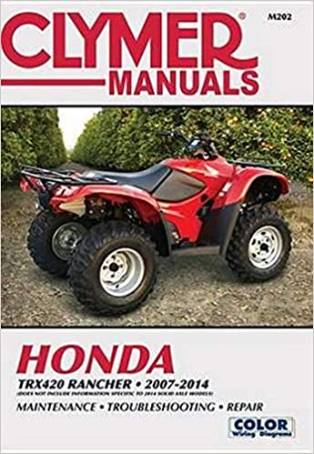 Honda Trx420 Rancher Atv 2007 2014 Service Repair Manual Editors Of Haynes Manuals 9781620921517 Amazon Com Books