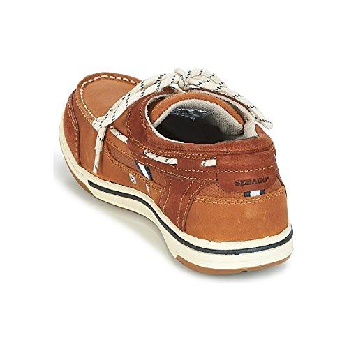 Brown Bateau Cognac Three Chaussures FGL Triton Homme Sebago Eye wTvUgAcfg