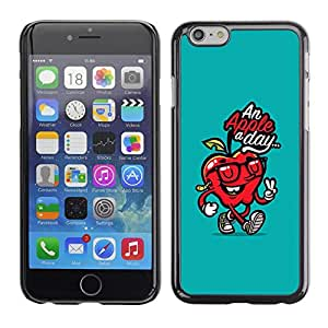 TopCaseStore / la caja del caucho duro de la cubierta de protección de la piel - Day Doctor Away Teal Red Quote - Apple iPhone 6 Plus 5.5