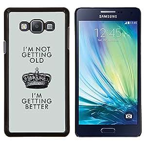 LECELL--Funda protectora / Cubierta / Piel For Samsung Galaxy A7 A7000 -- Mejor de cumpleaños de Crown King --