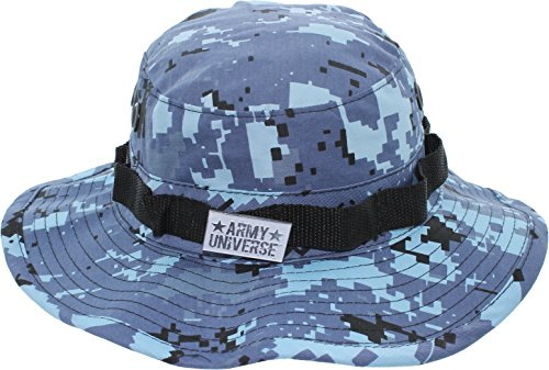 Army Universe Sky Blue Digital Camouflage Tactical Boonie Bucket Hat Pin - Size Small 7