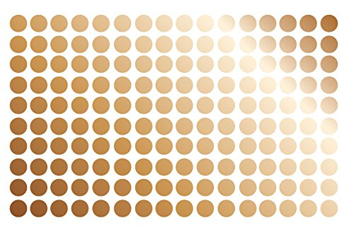 Brown Polka Dot Peel - Polka Dot Wall Decal Nursery Kids Room Peel and Stick Removable Sticker Circle Pattern Decor #1326 (1.5