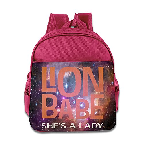 - Lion Babe Shes A Lady Kids Backpack School Bag For Boys/girls Pink