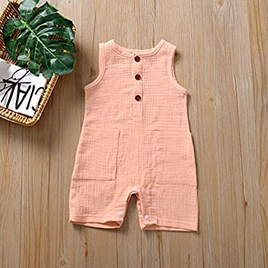 Newborn Girl Boy Toddler Unisex Baby Cute Floral Summer Sleeveless One Piece Outfit Clothes,Footless,Sleep /& Play