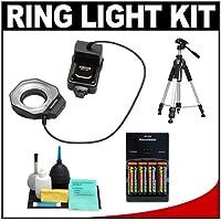 Bower SFD14C Digital Macro Close-Up Ring Flash + Tripod +...
