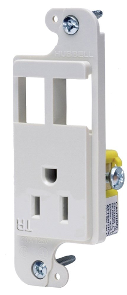 Bryant Electric RJ65WTR tradeSELECT JLOAD Tamper-Resistant Multimedia Outlet, Two Open Ports Unloaded, 15A, 125V, White